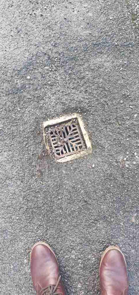exterior unblocked drain